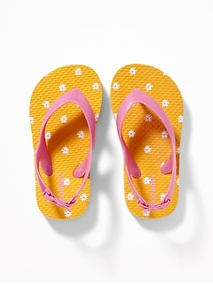 Printed Flip-Flops For Toddler Girls