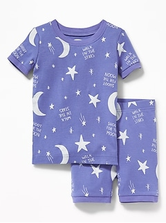 """Shoot For The Moon/Walk In The Stars"" Sleep Set For Toddler Girls & Baby"