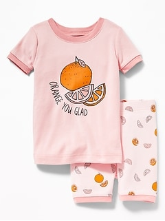 """Orange You Glad"" Sleep Set For Toddler Girls & Baby"