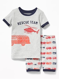 """Rescue Team"" Sleep Set For Toddler Boys & Baby"