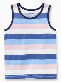 Striped Jersey Tank for Toddler Boys