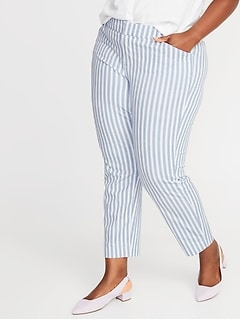 Mid-Rise Secret-Slim Pockets Plus-Size Pixie Ankle Pants