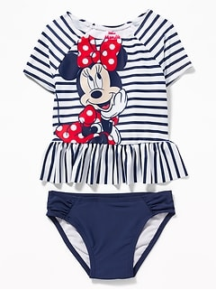 Disney© Minnie Mouse Rashguard Swim Set for Toddler Girls