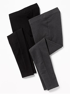 Maternity Front Low Panel Leggings 2-Pack