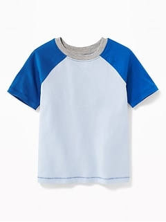Color-Blocked Raglan-Sleeve Tee for Toddler Boys