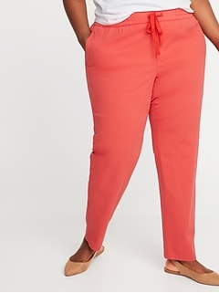 Mid-Rise Secret-Slim Pockets Plus-Size Anytime Pull-On Chinos