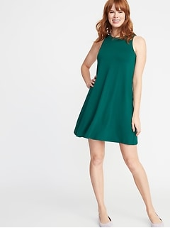 Sleeveless Jersey Swing Dress for Women