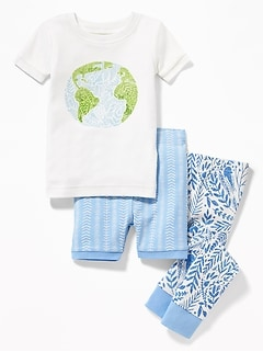 Planet Earth 3-Piece Sleep Set For Toddler Girls & Baby