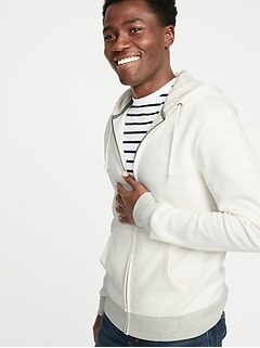 Color-Blocked Zip Hoodie for Men