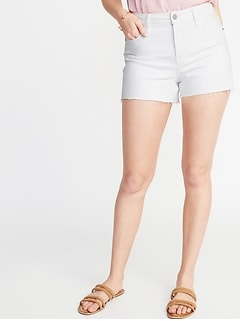 High-Rise Secret-Slim Pockets Denim Cut-Offs for Women - 3.5-inch inseam