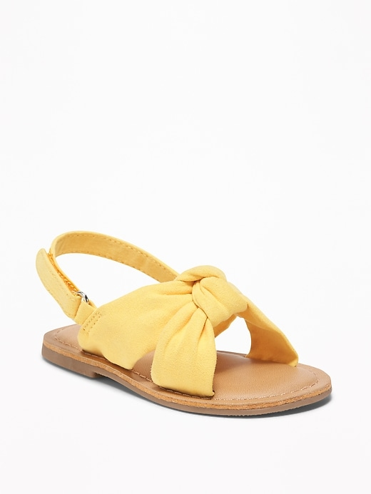 Twisted Faux Suede Sandals For Toddler Girls by Old Navy