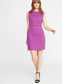 7770083da0 Sleeveless Ponte-Knit Sheath Dress for Women
