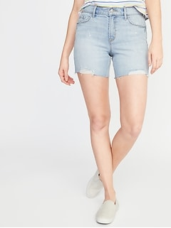Slim Denim Midi Cut-Offs for Women - 5-inch inseam