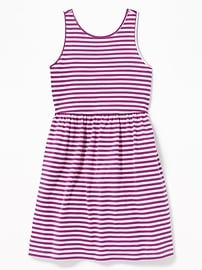 Old Navy Patterned Jersey Fit & Flare Tank Dress for Girls