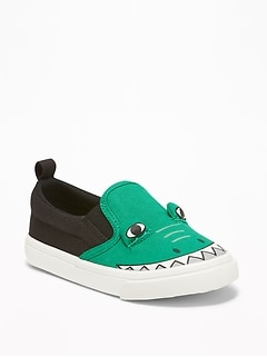 Alligator Critter Slip-Ons For Toddler Boys