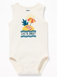 Graphic Sleeveless Bodysuit for Baby