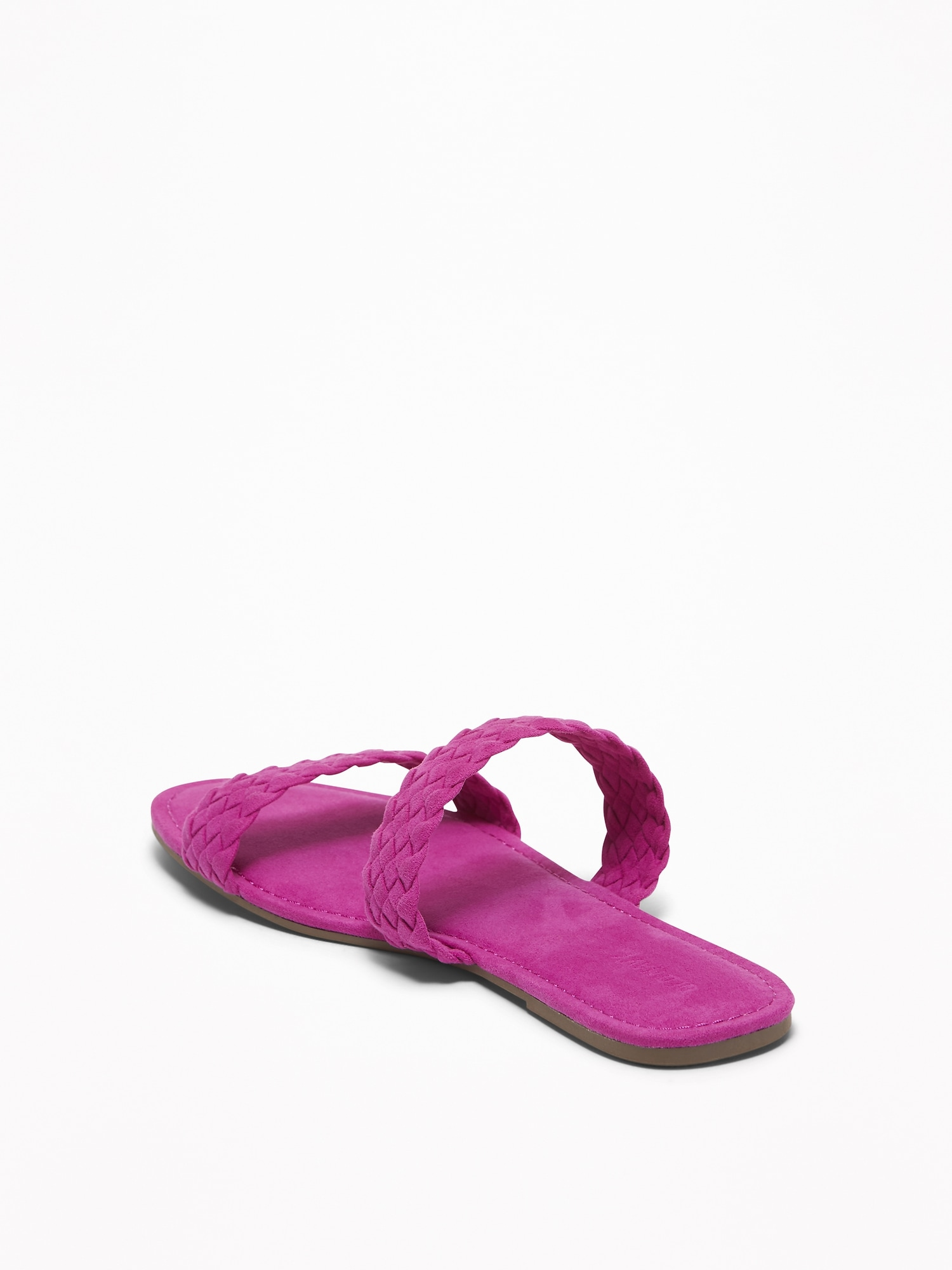 e86385cd1fe ... Braided Faux-Suede Slide Sandals for Women ...