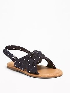 Polka-Dot Twisted Sandals For Toddler Girls
