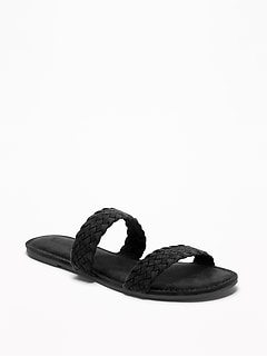 Braided Faux-Suede Slide Sandals for Women