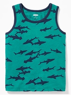 Printed Tank for Toddler Boys