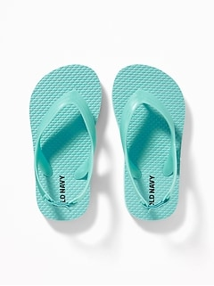 Solid-Color Flip-Flops For Toddler Boys
