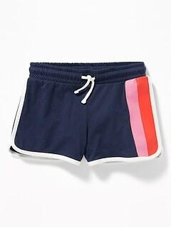 Jersey Dolphin-Hem Cheer Shorts for Girls