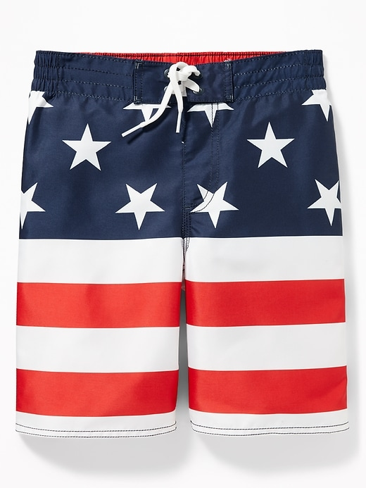 Patterned Board Shorts for Boys