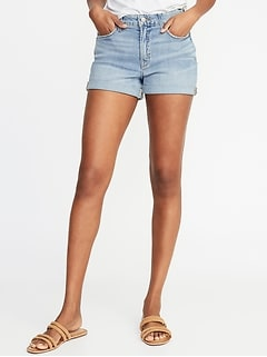 High-Rise Secret-Slim Pockets Denim Shorts for Women - 3-inch inseam