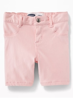 Pink 24/7 Denim Bermudas for Toddler Girls
