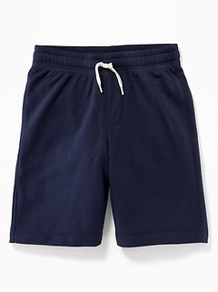 French-Terry Drawstring Shorts for Boys