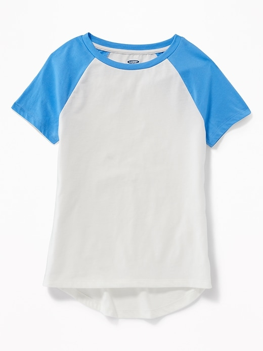Softest Color-Blocked Raglan-Sleeve Tee for Girls
