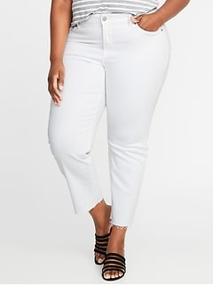 High-Rise Secret-Slim Pockets + Waistband Power Straight Plus-Size Jeans
