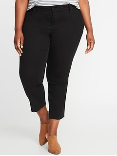 High-Rise The Power Straight Secret-Slim Pockets + Waistband Plus-Size Jeans