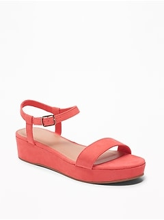 27941001a0d Old Navy  . Women s Clothing  . Shoes  . Heels · Sueded Ankle-Strap  Platform Sandals for Women