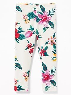 Printed Full-Length Leggings for Toddler Girls