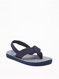 Canvas Flip-Flops For Toddler Boys