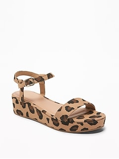 Printed Platform Heels for Women