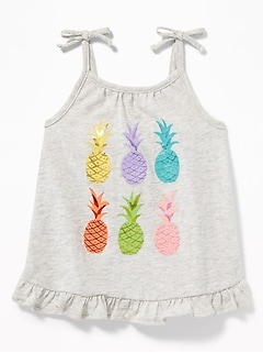 Ruffle-Hem Jersey Tank for Toddler Girls