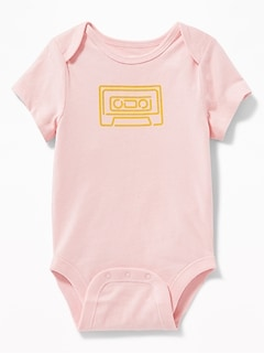 Cassette Tape-Graphic Bodysuit for Baby