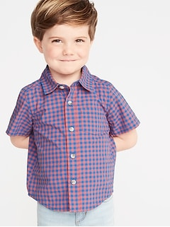 3435c82a6a10 Built-In Flex Gingham Shirt for Toddler Boys
