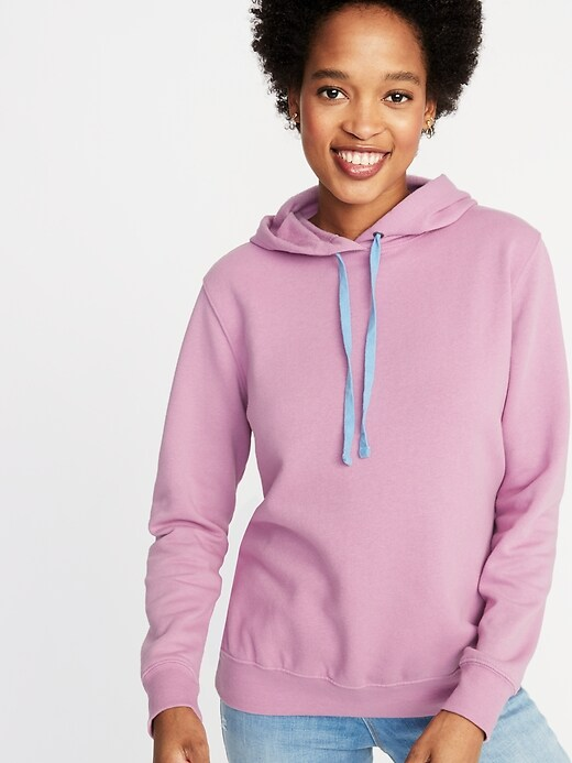 French Terry Pullover Hoodie for Women