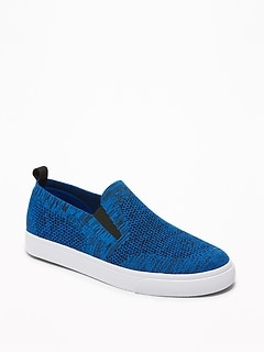 Textured-Knit Slip-Ons for Boys