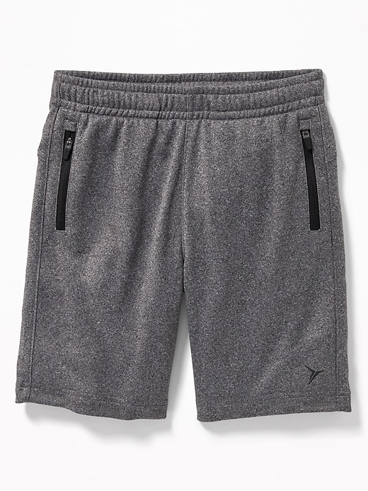 Relaxed Go Dry French Terry Zip Pocket Shorts For Boys by Old Navy