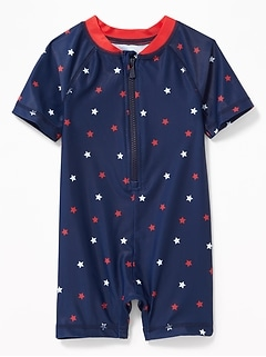 Star-Print One-Piece Rashguard for Baby
