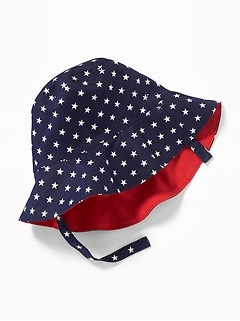 55d4a7362691f9 Americana Reversible Bucket Hat for Baby