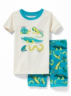 Reptile-Graphic Sleep Set For Toddler Boys & Baby