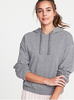 Loose-Fit French-Terry Hoodie for Women
