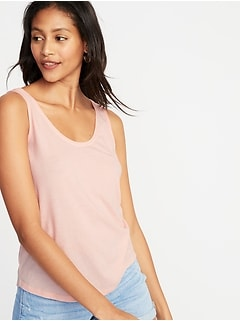 Scoop-Neck Jersey Tank for Women