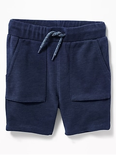 French-Terry Pull-On Shorts for Toddler Boys