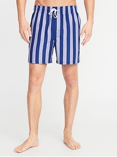 Printed Swim Trunks for Men - 6-inch inseam